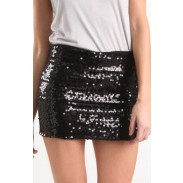 New Temperament Aristocratic Ladies Slim Sequined Skirt