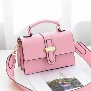 Fashion Ladies H Button Simple Women Shoulder Bag