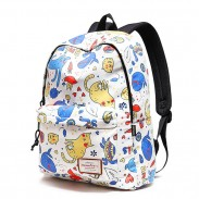 Cute Dolphin Cartoon Cat School Bag Kitten Tortoise Animal Waterproof Polyester Student Backpack