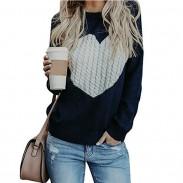 Leisure Romantic Love Heart Knit Long Sleeve Cardigan Girlfriend Gift Women Sweater