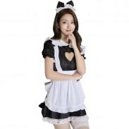 Sexy  Love Hollow Lace Maid Cosplay Maid Costume Dress Maid Uniform Temptation Hot Teenage Lingerie