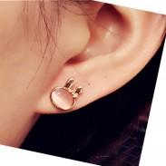 Cute Bunny Opal Earring Studs