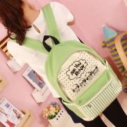 Fresh Lace Cartoon Canvas Computer Bag/Backpack/Schoolbag