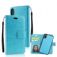 Fashion Iphonex Crazy Horse Pattern Multi-function Flip Wallet Mobile Phone Leather Case