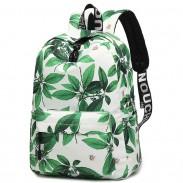 Leisure Leaves Flower Ink Style School Rucksack Student Backpack