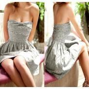 Sweet Bling  Bowknot Tee Dress&Party Dress
