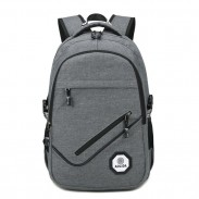 Leisure Diagonal Zipper Outdoor Large USB Interface Travel Rucksack Sport Backpack
