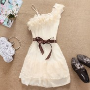 New Fashion Sweet Flowers Chiffon Dress