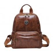 Retro British Style School Bag Brown Rivet College Backpack