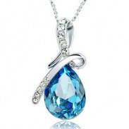 Diamond Angel Tears Crystal Necklace