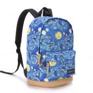 Fashion Galaxy Clouds Graffiti Canvas Backpack