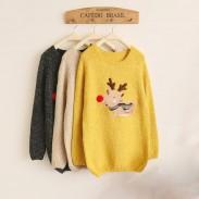 Christmas Deer Cute Red Nose Sleeve Sweater