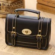 Retro Buckle Leather Messenger Bag Shoulder Bag