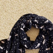 Lovely Cute Little Fox's Voile Infinity Scarf