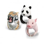 Super Cute PVC 3D Animal shaped Tiger Panda Polar Bear Hedgehog Ring