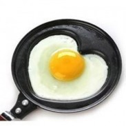 Romantic Gift Funny Shape Stainless Metal Non Stick Frying Pan