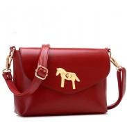 Retro Simple Horse Button Shoulder Bag