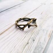 Creative Flower Vine Twigs Handmade Ring