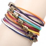 Cute Elephant Colorful Rope Bracelet