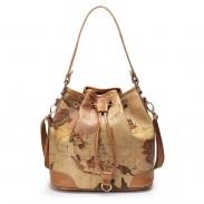 Retro Elegant World Map Handbag & Shoulder Bag