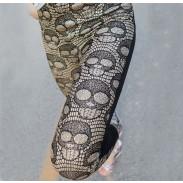 Slim Personality Skull Leather Leggings/Stockings