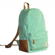 Fresh Cute Dot Print Canvas Backpacks