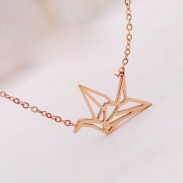 Fashion Hollow Crane Bird Necklace/Girls Gift