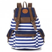 Retro Navy Stripe Print Fresh Backpack