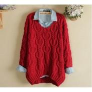 Vintage Diamond Twist Knitwear&Sweater