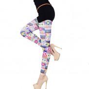 Geometric Colorful Print Leggings