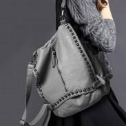 Original Multifunctional Rivet Soild College Backpacks