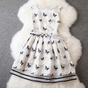 Luxury Embroidery Butterfly Chiffon Dress