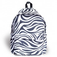 Harajuku Street Casual Zebra Pattern Waterproof School Bag Travel Backpack