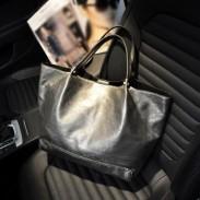 Leisure Solid Simple Leather Large Shoulder Bag Handbag