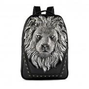 Fashion Wild Original 3D Lion-shaped Rivet Backpack