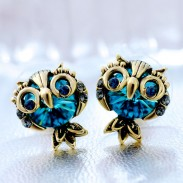 Original Cute Owl Crystal Earrings