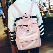 Unique Multi-function Travel Handbag Backpack Leisure Canvas Lady School Rucksack