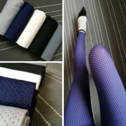 Fashion Girl's Whole Color Mesh Thin Ice Silk Sun Block Ninth Leggings