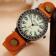Vintage Punk Style Retro Leather Watch