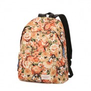 Fresh Romantic Floral Flowers Pattern Travel Backpack School Bag