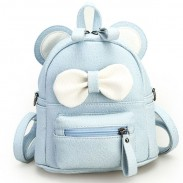 Cartoon Mouse's Ears Mini Bow Kitty Ears School PU College Backpacks