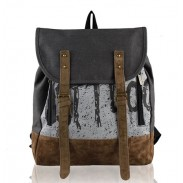 Fashion Casual Female Retro Canvas Backpack