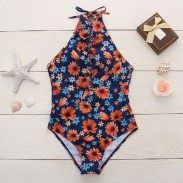 Fresh Small Daisy Bikini Swimsuit Siamese Bandage One-piece Bathingsuit