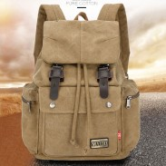 Leisure School Camping Student Rucksack Men's Travel Bag Large Canvas Backpack