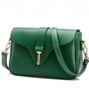 Fashion Buckle Leather Messenger Bag Shoulder Bag