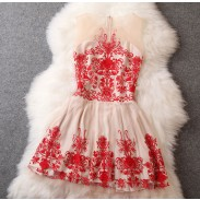 Baroque Organza Embroidered Dress
