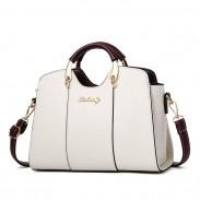 Elegant Girl's PU Leather Square Tote Bag Summer Shoulder Bag Handbag