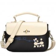 Cute Puppy Cartoon Contrast Color Girl PU Shoulder Bag