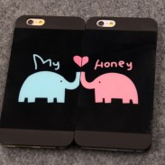 Lovely Animals Lover Elephants Couple Frosted IPhone 4/4s/5/5s/6/6p Cases
