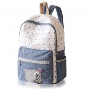Fresh Polka Dot Anchor School Canvas Backpacks